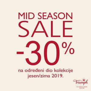 Triumph mid <br/> season sale